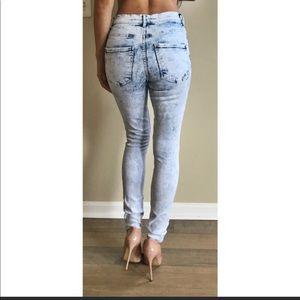 Express Legging High Rise Acid Jeans